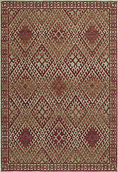Momeni Rugs VISTAVA-04RED96C6 Vista Collection Transitional Area Rug, 96 x 126, Red