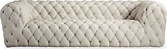 Kardiel CUMULUS3-URBANHEMP Cumulus Mid-Century Modern Tufted Sofa, Urban Hemp Vintage Twill