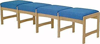 Wooden Mallet DW5-4 4-Seat Bench, Medium Oak/Cabernet Burgundy