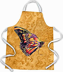 Carolines Treasures 8858APRON Butterfly on Gold Apron Multicolor Large