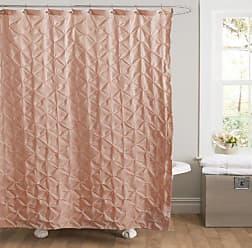 Lush Décor Lake Como Shower Curtain, 72 by 72-Inch, Peach