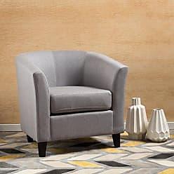 Christopher Knight Home 299527 Preston Arm Chair, Light Grey