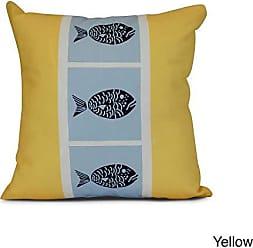 Ikat Geometric Print Pillow 20x20 Blue E by design PGN544BL27-20 20 x 20-inch
