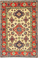 Nain Trading Kazak Rug 59x311 Beige/Purple (Afghanistan, Wool, Hand-Knotted)