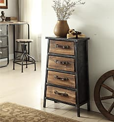 4D Concepts Urban Loft Collection Industrial Style Metal and Wood 4-drawer Chest (Urban Loft)