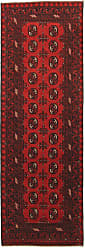 Nain Trading Handknotted Afghan Akhche Rug 711x28 Runner Dark Brown/Rust (Wool, Afghanistan)