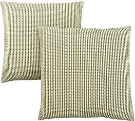 Monarch Specialties Abstract Dot 18 x 18 Light/Dark Green 2 Piece Pillow