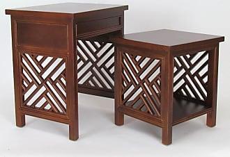 Wayborn Lattic Nesting Tables - 5717B-AB