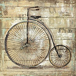 Portfolio Canvas Decor Canvas Print Wall Art - Wheels I - 35x35 by Sandy Doonan Stretched and Wrapped, Ready to Hang