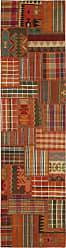 Nain Trading Oriental Kilim Patchwork Rug 911x27 Brown/Orange (Wool, Iran/Persia, Hand-Knotted)