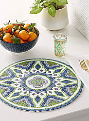 Simons Maison Colourful bas-relief braided placemat