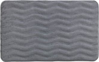 Wenko Bath Paradise Anthracite-Anti-Slip Shower mat with Suction Cups Grey 71 x 36 x 2 cm Polyvinyl chloride