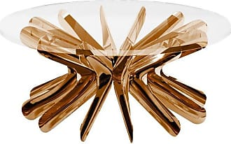 Zieta Limited Edition Small Steel In Rotation Coffee Table In Lacquered Copper, Zieta