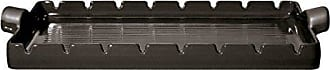 Emile Henry Made In France Flame BBQ Kabob Grilling Stone and Skewers, 16.5 x 9.8, Charcoal