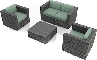 Harmonia Living Outdoor Harmonia Living District 4 Piece Patio Sofa Set - HL-DIS-TS-4SS-SP