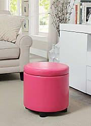 Convenience Concepts 163523PK Designs4Comfort Storage Ottoman, Pink