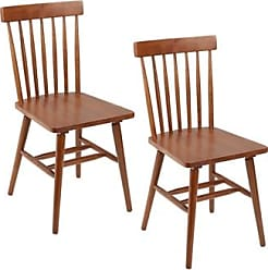 Ashley Furniture Zephs Mid-Century Modern Dining Chairs (Set of 2), Brown
