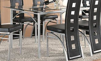 Coaster Los Feliz Dinning Table with Glass Top Matte Silver and Clear