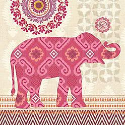 Portfolio Canvas Decor Portfolio Canvas DecorJaipur Elephant Pink 16x16 Canvas Print Wall Art