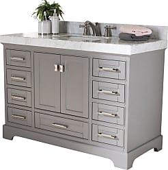 Baxton Studio Amaris 48 in. Single Sink Bathroom Vanity - AMARIS-48-SLATE GREY