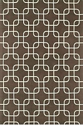 Loloi Rugs GEO0GEO01BRIV5076 Geo Collection Contemporary Area Rug, 5-Feet by 7-Feet 6-Inch, Brown/Ivory