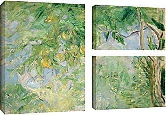 Brushstone Berthe Morisot Orange Tree Branches, 1889 3 Piece Gallery Wrapped Canvas Flag Set, 24X36