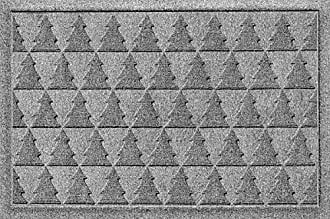 Bungalow Flooring AquaShield Pine Trees Mat, 2 x 3, Medium Grey