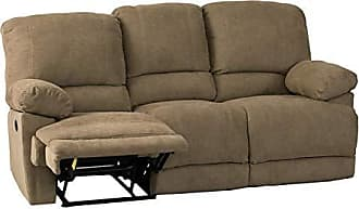 CorLiving LZY-392-S Lea Collection Reclining Sofa Brown
