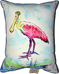 Betsy Drake ZP530 Betsys Pink Spoonbill Zippered Pillow 20 x24