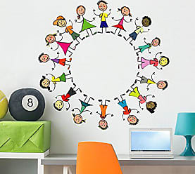 Wallmonkeys Melting Pot Worlds Children Wall Decal Peel and Stick Graphic (36 in H x 36 in W) WM41116