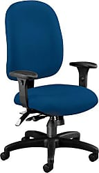OFM Ergonomic Upholstered Multi-Adjustable ComfySeat Task Chair with Arms, Navy