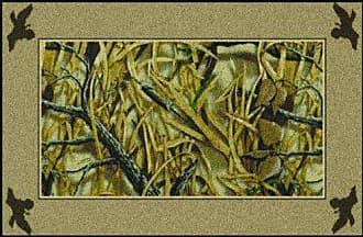 Milliken Carpet Milliken 4000052910 Realtree Wetlands Area Rug, 28x310, Green