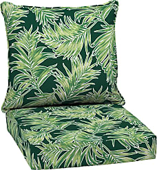 Overstock Arden Selections Emerald Quintana Tropical Outdoor Deep Seat Set (Green - Polyester - Hand Wash)