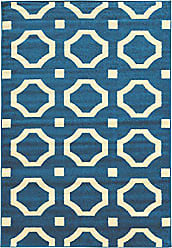 Linon Linon Claremont Collection Octagon Off-White Synthetic Rugs, 8x102, Blue