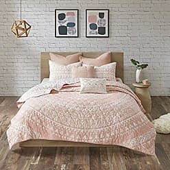 Urban Habitat LAF02-0392 Larisa 7 Piece Cotton Reversible Coverlet Set Blush Cal King, King King