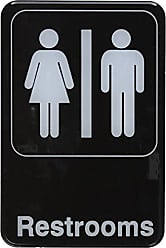 Winco USA Winco SGN-603 Sign, 6-Inch by 9-Inch, Restrooms