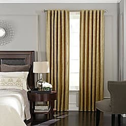Ellery Homestyles BEAUTYREST Blackout Curtains for Bedroom - Germaine 52 x 84 Insulated Darkening Single Panel Rod Pocket Window Treatment Living Room, Gold