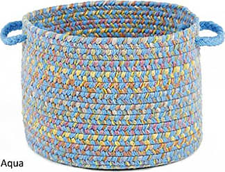 Rhody Rug Sandbox Aqua Blue Multi 10 x 8 Basket