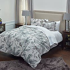 Rizzy Home Lark Comforter Set, King, Ivory/Grey