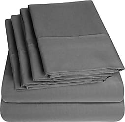Sweet Home Collection Quality Deep Pocket Bed Sheet Set - 2 EXTRA PILLOW CASES, VALUE, Twin XL, Gray, 4 Piece