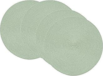 Now Designs Disko Round Placemats, Set of Four, Aloe
