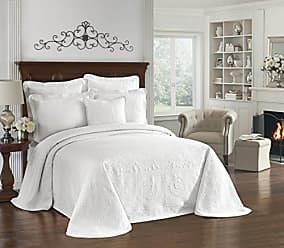 Ellery Homestyles HISTORIC CHARLESTON Bedspreads Coverlet - King Charles Collection 120 x 114 Size 100% Cotton Oversized Matelasse Bed Spread, King/Cal King, White