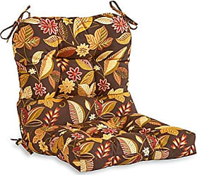 Greendale Home Fashions Outdoor Seat/Back Chair Cushion, Timberland Floral