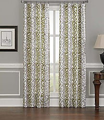 CHF Industries CHF Damask Stripe Curtain Panel, 84, Green