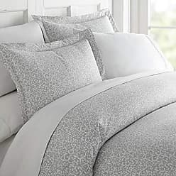 iEnjoy Home Simply Soft Premium 3 Piece Vine Trellis Print Duvet Cover Bed Sheet Set Full/Queen Gray