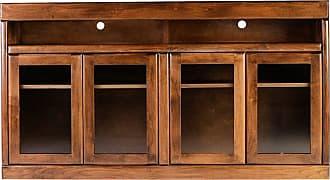 Forest Designs Bullnose Alder TV Cart Unfinished Alder, Size: 60 in. - B4626- BA-60W-UA