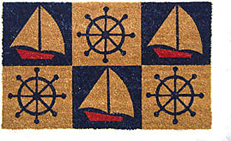 Geo Crafts Vinyl Back Nautical Boats and Wheels Doormat