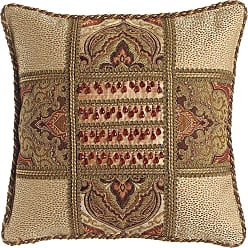 Dian Austin Couture Home Mediterrane Patch Pillow with Beaded Silk Center, 18Sq