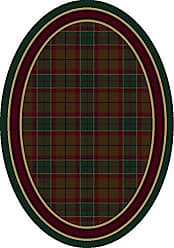 Milliken Carpet Signature Collection Magee Tartan Oval Area Rug, 310 x 54, Emerald
