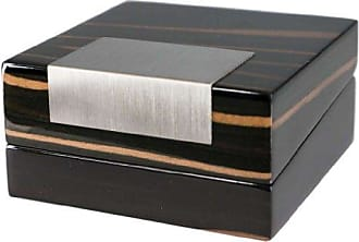 Visol Products Kadar Ebony Finish Wooden Jewelry Gift Box